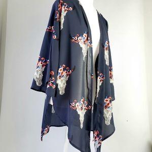 Altar'd State Navy O'Keeffe Kimono Size Medium